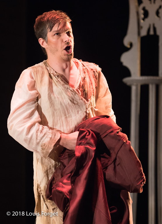 Bass-baritone André Courville in rehrarsal  of Opera Lafayette's production of Erminia by Alessandro Scarlatti