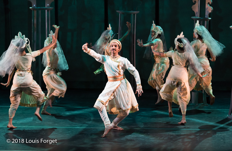 Members of the Kalanidhi Dance Company in rehearsal of Opera Lafayette's production of La Forêt enchantée (The Enchanted Forest) by Francesco Geminiani
