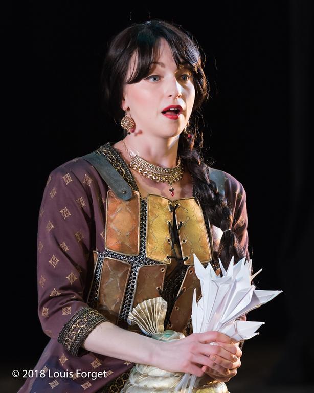 Soprano Julia Dawson in rehearsal of Opera Lafayette's production of Erminia by Alessandro Scarlatti