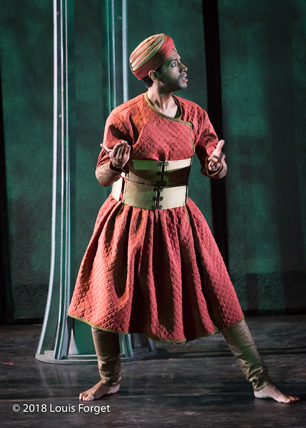 Member of the Kalanidhi Dance Company in rehearsal of Opera Lafayette's production of La Forêt enchantée (The Enchanted Forest) by Francesco Geminiani