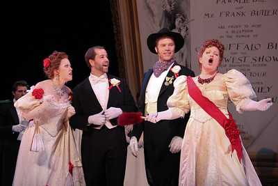 Rod Gilfry and as Frank Butler and Klea Blackhurst as Dolly Tate (right) with members of the ensemble in The Glimmerglass Festival's production of Annie Get Your Gun. Photo: William Brown.
