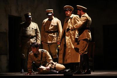 Adam Diegel (center) as Don José in The Glimmerglass Festival's 2011 production of Bizet's Carmen. Photo: Julieta Cervantes.