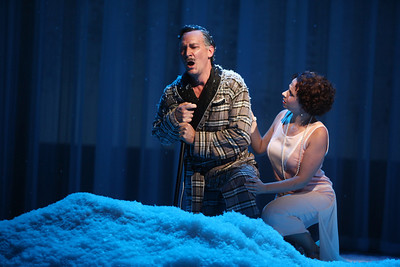 David Pittsinger as Eugene O'Neill and Lindsay Russell as A Young Woman in The Glimmerglass Festival's world-premiere production of A Blizzard On Marblehead Neck. Photo: Julieta Cervantes.