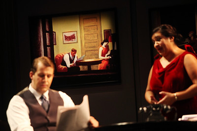 Kyle Albertson as Gus O'Neill and Andrea Arias Martin as Elaine O'Neill in The Glimmerglass Festival's 2011 production of Later the Same Evening. Photo: Julieta Cervantes.