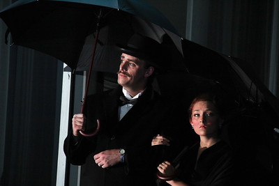 Neal Ferreira as Sheldon Segal and Andrea Carroll as Rose Segal in The Glimmerglass Festival's production of Later the Same Evening. Photo: William Brown.