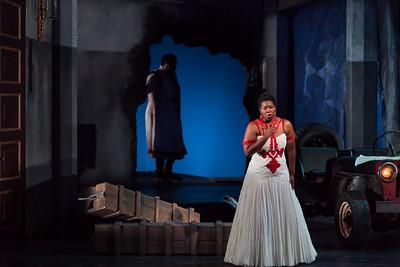 Michelle Johnson in the title role of The Glimmerglass Festival production of Aida. Photo: Karli Cadel/The Glimmerglass Festival.