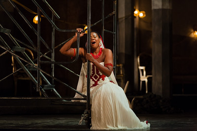 Adina Aaron in the title role of The Glimmerglass Festival 2012 production of Aida. Photo: Karli Cadel/The Glimmerglass Festival.