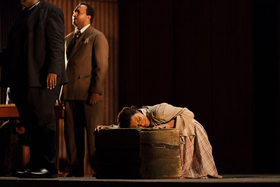 Brandy Lynn Hawkins as Irina in The Glimmerglass Festival's production of Kurt Weill and Maxwell Anderson's Lost in the Stars. Photo: Karli Cadel/The Glimmerglass Festival.