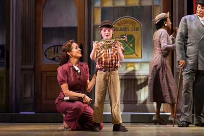 Elizabeth Futral as Marian Paroo and Henry Wager as Winthrop in The Glimmerglass Festival's production of The Music Man. Photo: Karli Cadel/The Glimmerglass Festival.