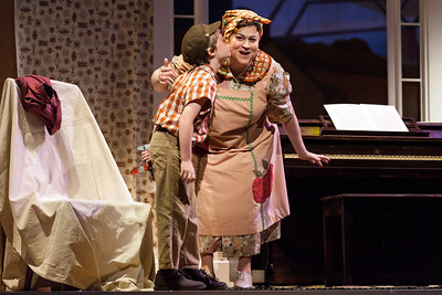 Cindy Gold as Mrs. Paroo and Henry Wager as Winthrop in The Glimmerglass Festival's production of The Music Man. Photo: Karli Cadel/The Glimmerglass Festival.