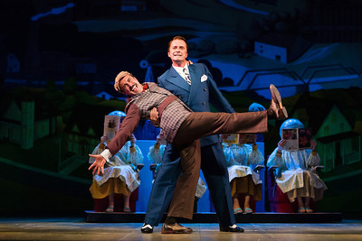 Josh Walden as Marcellus Washburn and Dwayne Croft as Harold in The Glimmerglass Festival's productoin of The Music Man. Photo: Karli Cadel/The Glimmerglass Festival.