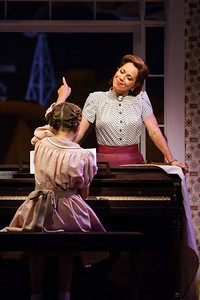 Elizabeth Futral as Marian Paroo with Aria Maholchic as Amaryllis in The Glimmerglass Festival's production of The Music Man. Photo: Karli Cadel/The Glimmerglass Festival.