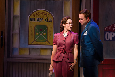 Elizabeth Futral as Marian Paroo and Dwayne Croft as Harold Hill in The Glimmerglass Festival production of The Music Man. Photo: William M. Brown/The Glimmerglass Festival.