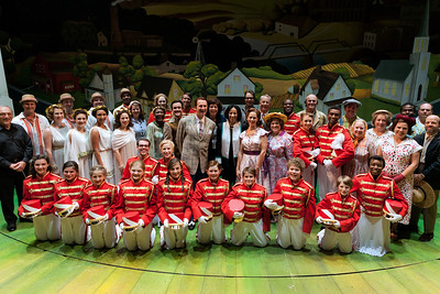 """""""The Music Man"""" cast with Her Excellency Hunaina Sultan Ahmed Al-Mughairy, Ambassador for Oman.  Photo: Karli Cadel."""