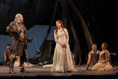 Wynn Harmon as Pellinore and Andriana Chuchman as Guenevere in The Glimmerglass Festival's 2013 production of Camelot. Photo: Karli Cadel/The Glimmerglass Festival.