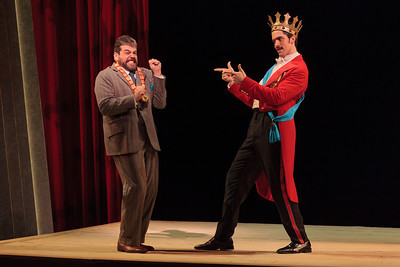 Andrew Wilkowske as La Rocca and Alex Lawrence as Belfiore in The Glimmerglass Festival's 2013 production of Verdi's King for a Day. Photo: Karli Cadel/The Glimmerglass Festival.