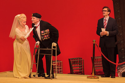 L to R: Ginger Costa-Jackson as Marchesa, Joe Shadday as Count Ivrea and Jason Hardy as Baron Kelbar in The Glimmerglass Festival's 2013 production of Verdi's King for a Day.  Photo: Karli Cadel/The Glimmerglass Festival.