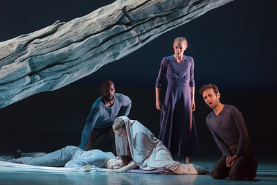 L to R: Ensemble members Danny Lindgren, Maurio Hines, Lily Smith and Andrea Beasom with Anthony Roth Costanzo in The Glimmerglass Festival's 2013 production of Pergolesi's Stabat Mater. Photo: Karli Cadel/The Glimmerglass Festival.