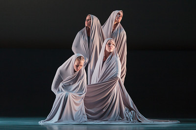 L to R: Ensemble members Andrea Beasom, Anne O'Donnell, Sarah Parnicky and Lily Smith in The Glimmerglass Festival's 2013 production of Pergolesi's Stabat Mater. Photo: Karli Cadel/The Glimmerglass Festival.