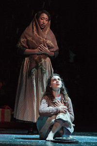 Lisa Williamson and Victoria Munro in The Glimmerglass Festival's 2013 production of David Lang's the little match girl passion. Photo: Karli Cadel/The Glimmerglass Festival.