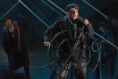 Adam Bielamowicz as the Steersman in The Glimmerglass Festival's 2013 production of Wagner's The Flying Dutchman. Photo: Karli Cadel/The Glimmerglass Festival.