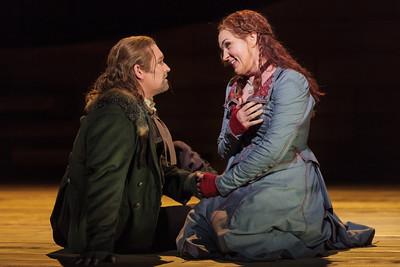 Jay Hunter Morris as Erik and Melody Moore as Senta in The Glimmerglass Festival's 2013 production of Wagner's The Flying Dutchman. Photo: Karli Cadel/The Glimmerglass Festival.