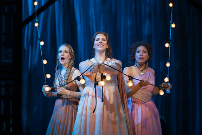 """L to R: Jeni Houser as Naiad, Beth Lytwynec as Dryad and Jacqueline Echols as Echo  in The Glimmerglass Festival's 2014 production of Strauss' """"Ariadne in Naxos."""" Photo: Karli Cadel/The Glimmerglass Festival."""