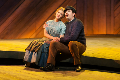 """Sharin Apostolou as Carrie Pipperidge and Joe Shadday as Enoch Snow in The Glimmerglass Festival's 2014 production of Rodgers and Hammerstein's """"Carousel."""" Photo: Karli Cadel/The Glimmerglass Festival."""