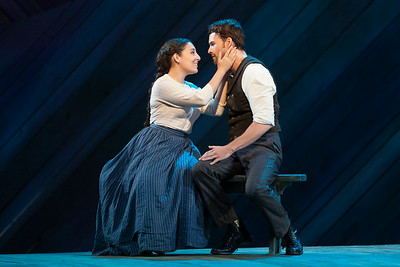 """Andrea Carroll as Julie Jordan and Ryan McKinny as Billy Bigelow in The Glimmerglass Festival's 2014 production of Rodgers and Hammerstein's """"Carousel."""" Photo: Karli Cadel/The Glimmerglass Festival."""