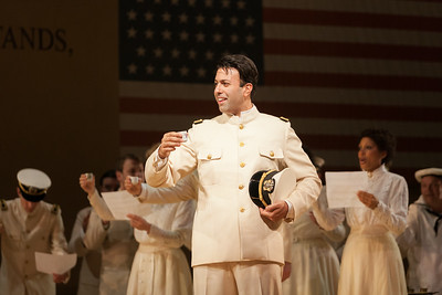 "Dinyar Vania as Lieutenant B.F. Pinkerton in The Glimmerglass Festival's 2014 production of ""Madame Butterfly."" Photo: Karli Cadel/The Glimmerglass Festival."