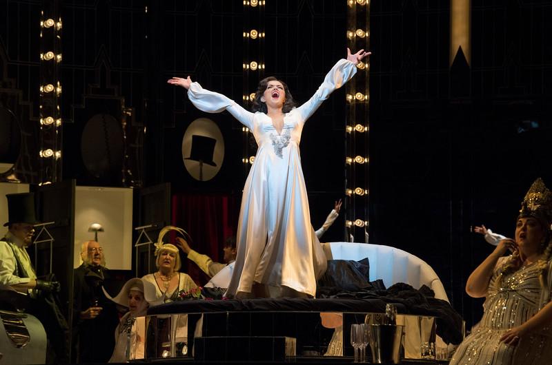'La Traviata' Opera performed by English National Opera at the London Coliseum, UK