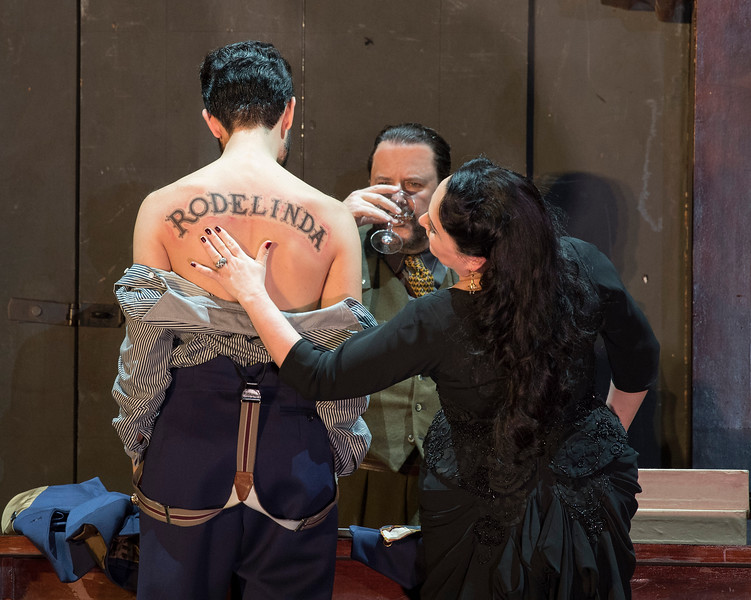 'Rodelinda' Opera performed by English National Opera at the London Coliseum, UK