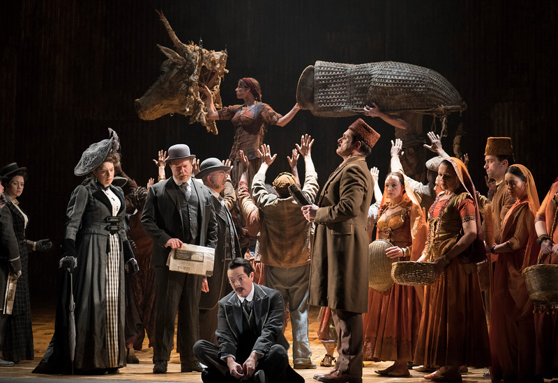 'Satyagraha' Opera by Philip Glass performed by English National Opera at the London Coliseum, UK