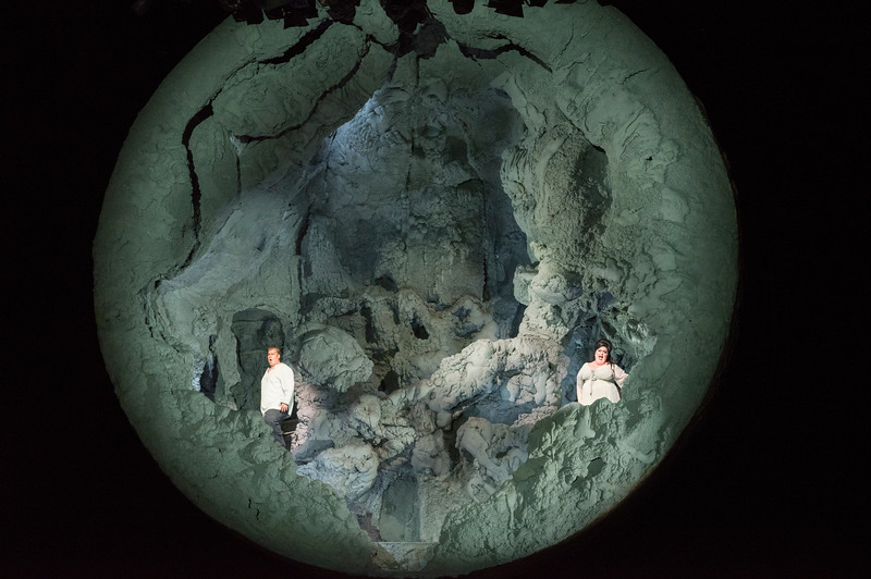 'Tristan and Isolde' Opera designed by Anish Kapoor, directed by Daniel Kramer, performed by the English National Opera at the London Coliseum, UK
