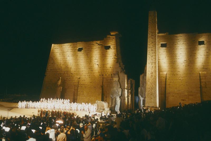 'Aida' Opera performed by Arena de Verona Company in Luxor, Egypt 1987