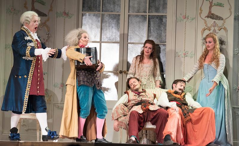 'Cosi Fan Tutti' Opera performed by Holland Park Opera, London, UK