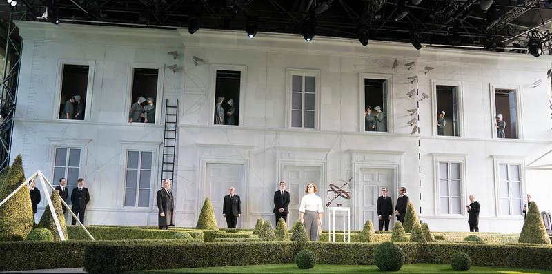 'Die Zauberflote' Opera performed at Garsington Opera, UK