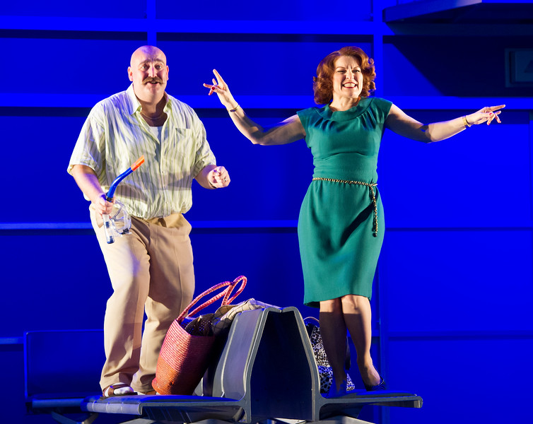 'Flight' Opera performed at Holland Park Opera, London, UK