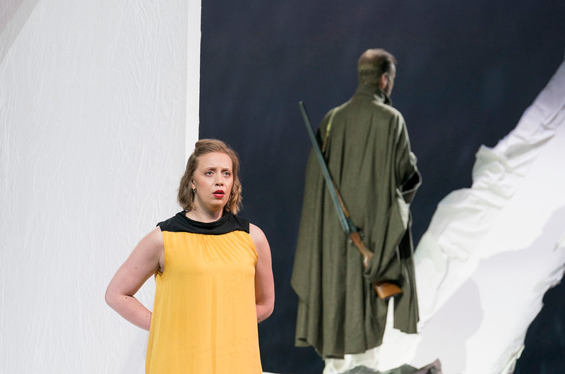 'The Hunting Gun' Opera performed at the Aldeburgh Festival, Snapes Maltings, Suffolk, UK
