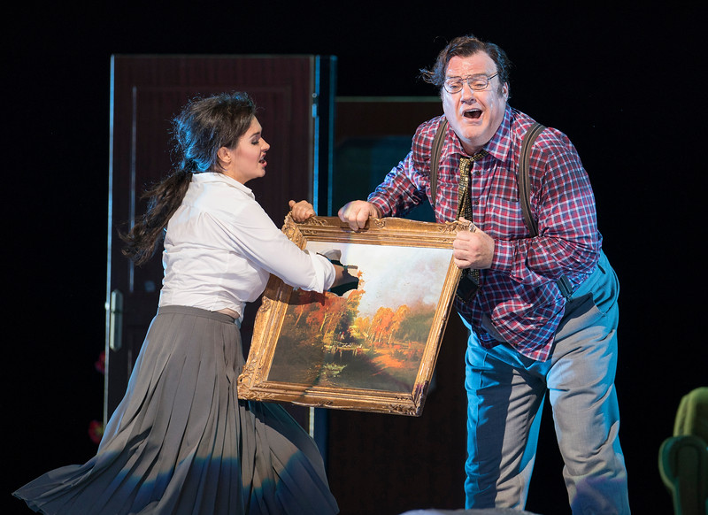 'Don Pasquale' Opera performed by English National Opera at the London Coliseum, UK