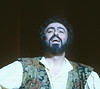 Luciano Pavarotti performing in Opera 'L'Elisir D'Amore' at the Royal Opera House, London, UK 1990