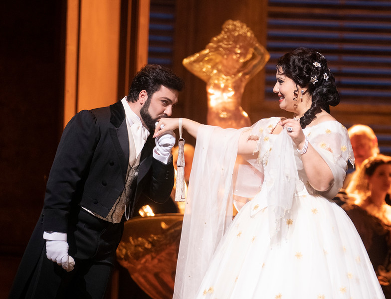 'La Traviata' Opera performed at the Royal Opera House, London, UK