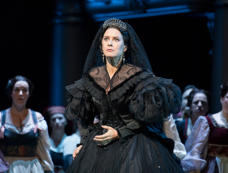 'Les Vepres Siciliennes' Opera performed at the Royal Opera House, London, UK