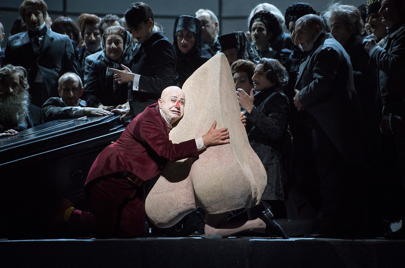 'The Nose' Opera by Dimitry Shostakovich performed ay the Royal Opera Hose, London, UK