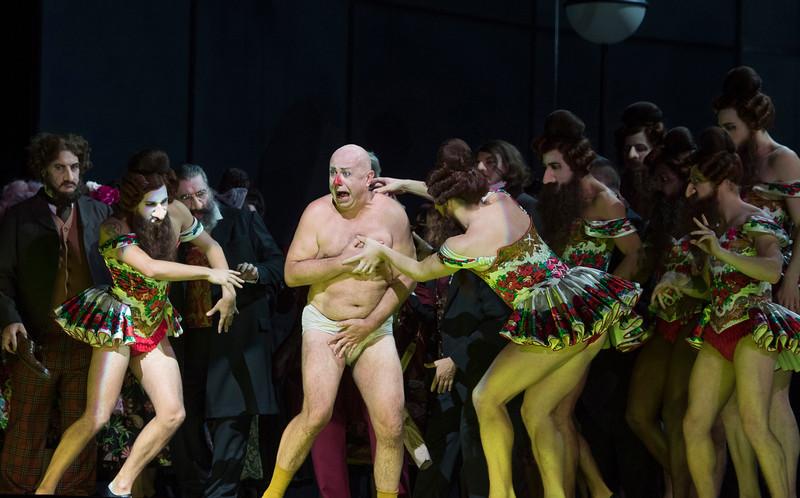 'The Nose' Opera by Dimitry Shostakovich performed ay the Royal Opera Hose, London, UK