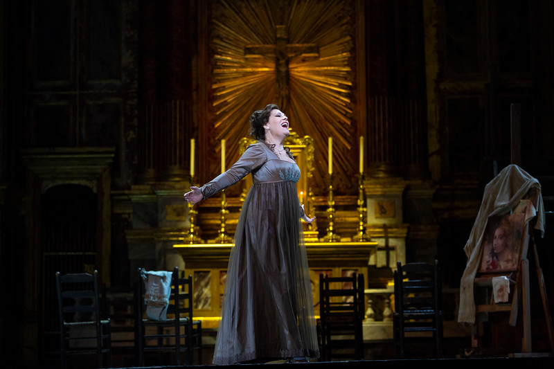 "Sondra Radvanovsky in the title role of Puccini's ""Tosca."" Photo: Marty Sohl / Met Opera"