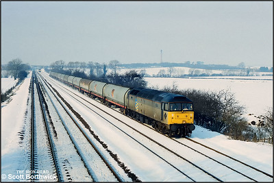 47224 passes Cossington whilst working 6V52 0745 Lindsey Oil Refinery-Langley Oil Terminal on 13/02/1991.