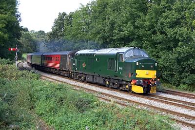 37411 departs from Ystrad Mynach on 17/09/2005 with 2F34 1415 Rhymney-Cardiff Central.