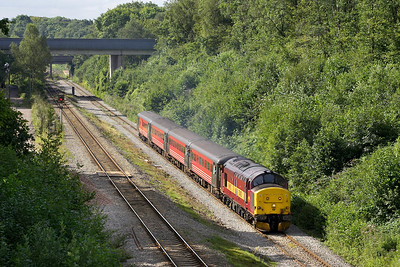 37405 is seen shortly after departing from Lisvane & Thornhill approaching the former halt at Cefn Onn whilst working  2R14 0959 Cardiff Central-Rhymney on 20/08/2005.