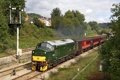 37411 departs from Ystrad Mynach on 17/09/2005 with 2F22 1114 Rhymney-Cardiff Central.